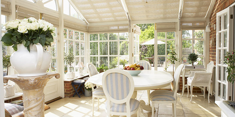 chic looking conservatory